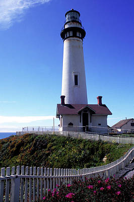 Pigeon Point Lighthouse 3 Print by Kathy Yates