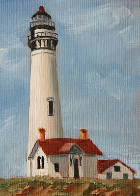 Painting - Pigeon Point Lighthouse by Alan Mager