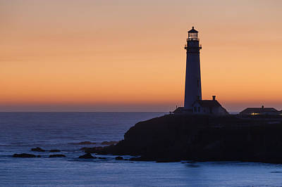 Photograph - Pigeon Point Lighthouse At Sunset by Cliff Wassmann