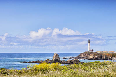 Pigeon Photograph - Pigeon Point Lighthouse California by Colin and Linda McKie