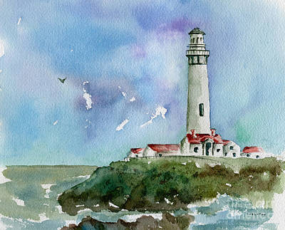 Painting - Pigeon Point Lighthouse by Diane Thornton