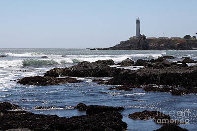 Pigeon Point Lighthouse In The Coast Of California 5d28291 Print by Wingsdomain Art and Photography