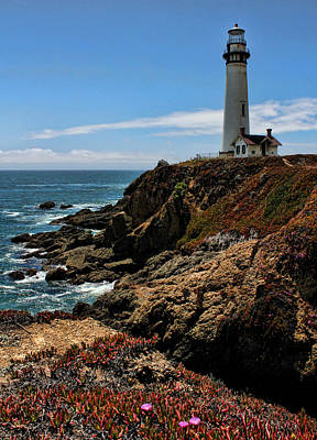 Photograph - Pigeon Point Lighthouse Vertical by Judy Vincent