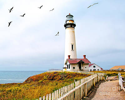Art Print featuring the photograph Pigeon Point Lighthouse by Artist and Photographer Laura Wrede