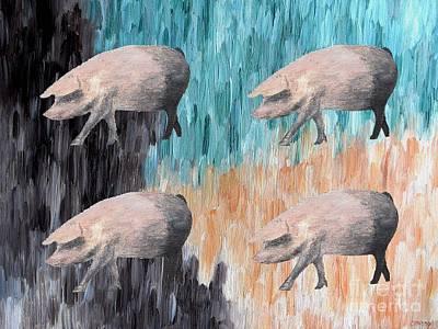 Piggies Art Print by Patrick J Murphy