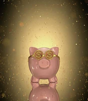Piggy Bank Wall Art - Photograph - Piggy Bank by Ktsdesign