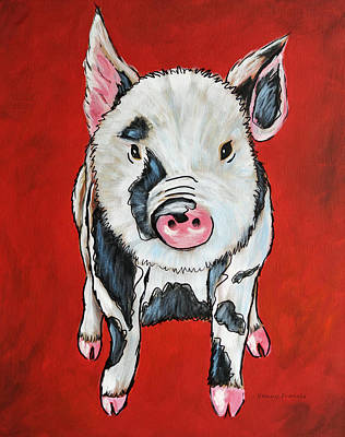 Painting - Piggy by Kenny Francis