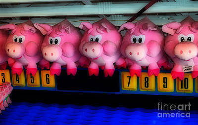 Carnival Magic Photograph - Piggy Race by Skip Willits