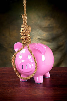 Piggybank And Noose Art Print by Joe Belanger