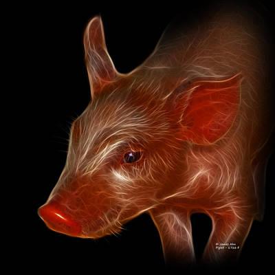 Animal Lover Digital Art - Piglet 1716 F by James Ahn