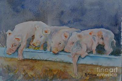 Piglets Art Print by Betty Mulligan