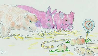 Pigs Cartoon Original