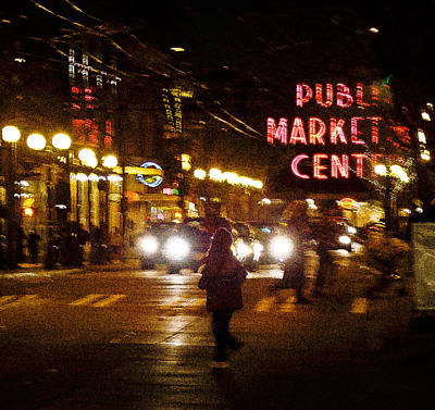 Photograph - Pike Place At Night by Ronda Broatch