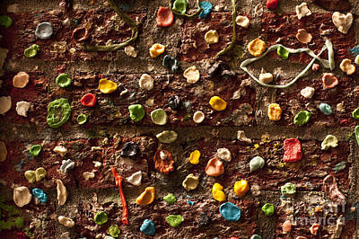 Pike Place Market Gum Wall In Alley Art Print