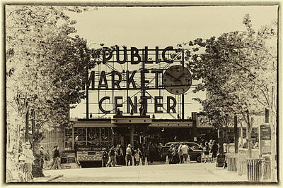 Seattle Washington Photograph - Pike Place Market In Seattle by David Patterson