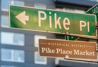 Science Collection - Pike Place Market Sign by Steve Gadomski