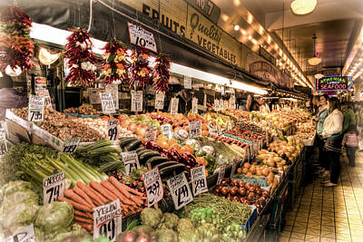 Photograph - Pike Place Veggies by Spencer McDonald