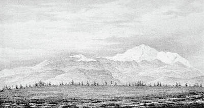 Pikes Peak Painting - Pike's Peak, 1845 by Granger