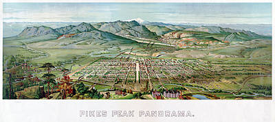 Pikes Peak Painting - Pike's Peak, 1890 by Granger