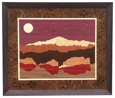 Colorado Rockies Drawing - Pikes Peak #26015 by Lynne Buss