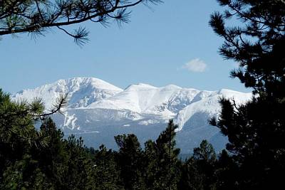 Photograph - Pikes Peak After A Snowstorm by Marilyn Burton