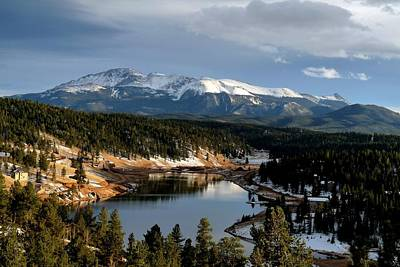 Photograph - Pikes Peak And Burgess Lake In Autumn by Marilyn Burton