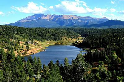 Photograph - Pikes Peak And Burgess Lake In Summer by Marilyn Burton