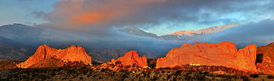 Of Ers Photograph - Pikes Peak And Garden Of The Gods Panorama by Ken Smith
