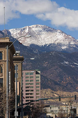 Steven Krull Royalty-Free and Rights-Managed Images - Pikes  Peak Avenue by Steven Krull
