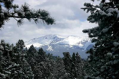Photograph - Pikes Peak - Cloudy Day by Marilyn Burton