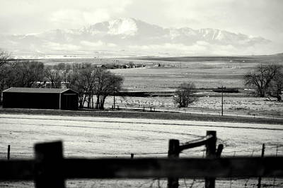 Pikes Peak From Ramah Art Print
