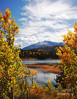 Art Print featuring the photograph Pikes Peak In Autumn by Lincoln Rogers