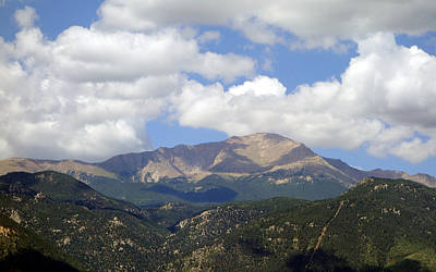Photograph - Pikes Peak In Summer by Ann Powell