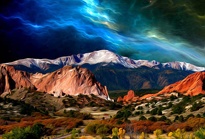 Pikes Peak Feelin' It... Art Print
