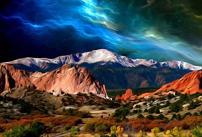 Pikes Peak Feelin' It... Art Print by John Hoffman