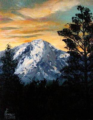 Mountain Sunset Mixed Media - Pikes Peak by Kenny Henson