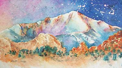 Pikes Peak Over The Garden Of The Gods Art Print