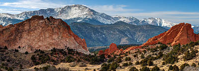 Photograph - Pikes Peak Panorama - Garden Of The Gods - Colorado Springs by Gregory Ballos