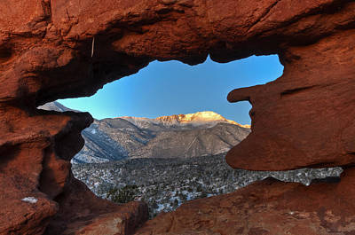 Pikes Peak Picture Window Print by Mike Berenson