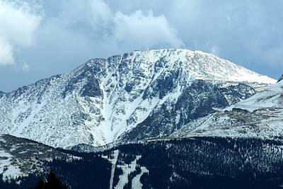 Photograph - Pikes Peak Snow - Close-up by Marilyn Burton