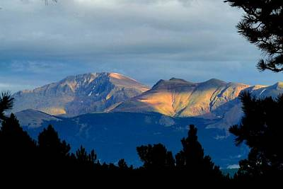 Photograph - Pikes Peak - Sunlight And Shadows by Marilyn Burton