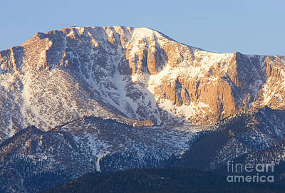 Steven Krull Royalty-Free and Rights-Managed Images - Pikes Peak Sunrise by Steven Krull