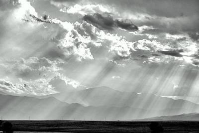 Photograph - Pikes Peak Through Veil Of Sunrays by Clarice  Lakota