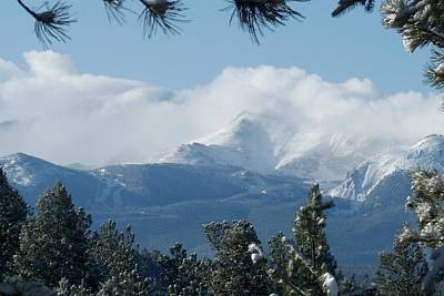 Photograph - Pikes Peak Under The Clouds by Marilyn Burton