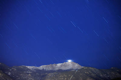 Pikes Peak Under The Stars Art Print by Darren  White