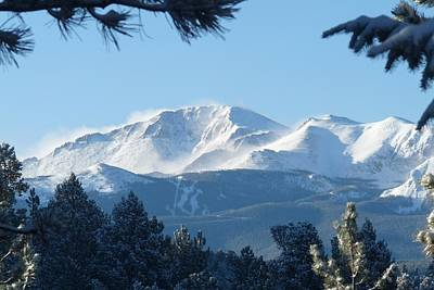 Photograph - Pikes Peak - White Out by Marilyn Burton