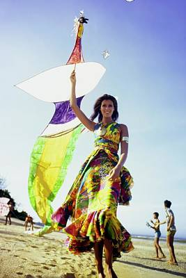 Photograph - Pilar Crespi Flying A Kite by Arnaud de Rosnay