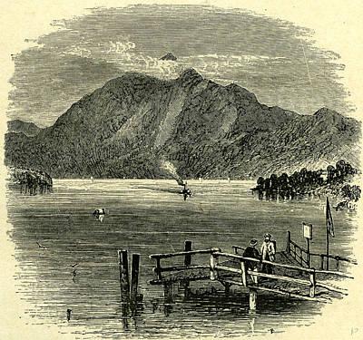 Switzerland Drawing - Pilatus Lake Of Lucerne Switzerland by Swiss School