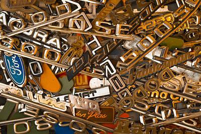 Black Top Digital Art - Pile Of Badges 3 by Scott Campbell