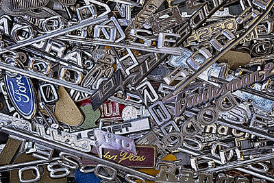 Photograph - Pile Of Badges 4 by Scott Campbell